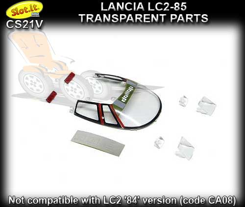 SLOT.IT BODY PARTS CS21V - Lancia LC2-85 Transparent Parts