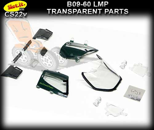 SLOT.IT BODY PARTS CS22V - Lola B09-60 LMP Transparent Parts