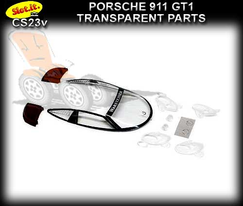 SLOT.IT BODY PARTS CS23V - Porsche 911 GT1 Transparent Parts