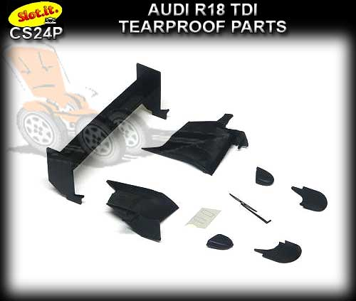 SLOT.IT BODY PARTS CS24P - Audi R18 TDI Tearproof Parts