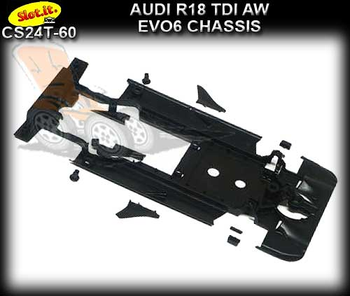 SLOT.IT BODY PARTS CS24T-60 - Audi R18 TDI chassis (EVO 6)