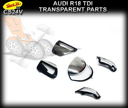 SLOT.IT BODY PARTS CS24V - Audi R18 TDI Transparent Parts