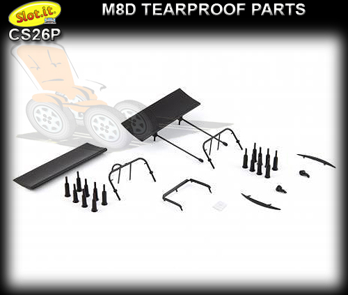 SLOT.IT BODY PARTS CS26P - McLaren M8D Tearproof Parts