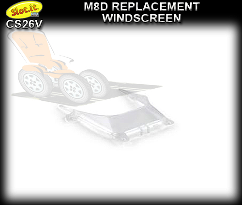 SLOT.IT BODY PARTS CS26V - McLaren M8D Transparent part