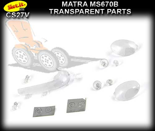 SLOT.IT BODY PARTS CS27V - Matra MS670B Transparent parts