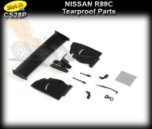 SLOT.IT BODY PARTS CS28P - Nissan R89C Tearproof Parts