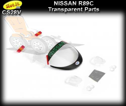 SLOT.IT BODY PARTS CS28V - Nissan R89C Transparent parts