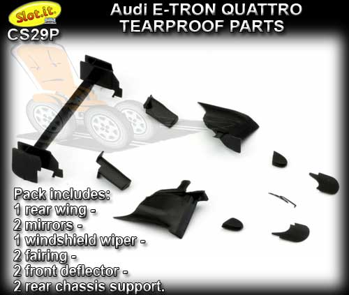 SLOT.IT BODY PARTS CS29P - Audi e-tron quattro Tearproof Parts