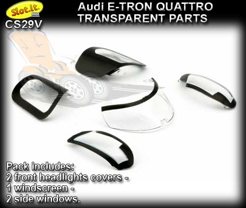 SLOT.IT BODY PARTS CS29V - Audi e-tron quattro Transparent parts