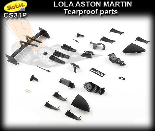 SLOT.IT BODY PARTS CS31P - Lola Aston Martin tearproof parts