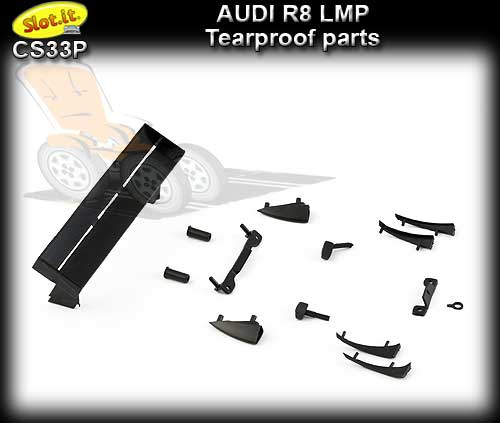 SLOT.IT BODY PARTS CS33P - Audi R8 LMP tearproof parts