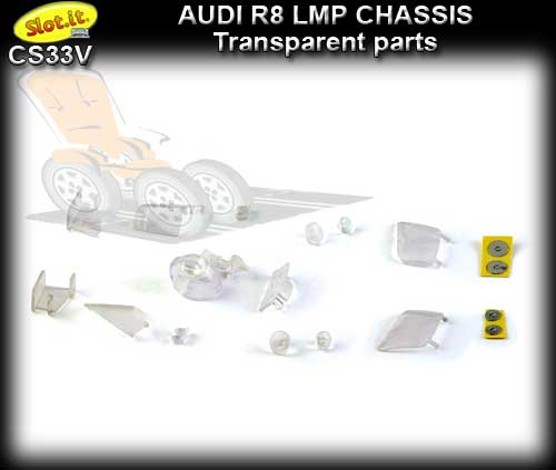 SLOT.IT BODY PARTS CS33V - Audi R8 LMP transparent parts