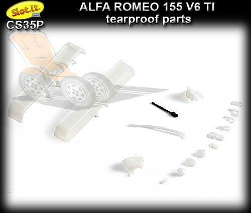 SLOT.IT BODY PARTS CS35P - Alfa Romeo 155 Tearproof parts