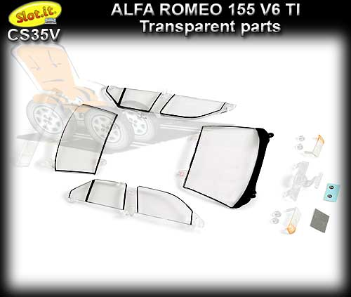 SLOT.IT BODY PARTS CS35V - Alfa Romeo 155 transparent parts