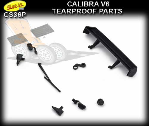 SLOT.IT BODY PARTS CS36P - Opel Calibra V6 Tearproof parts