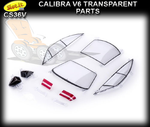 SLOT.IT BODY PARTS CS36V - Opel Calibra V6 transparent parts