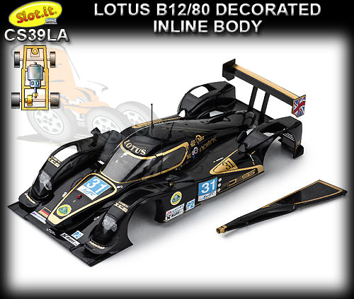 "SLOT.IT BODY PARTS CS39LA Lola B12/80 decorated ""Inline"" body"