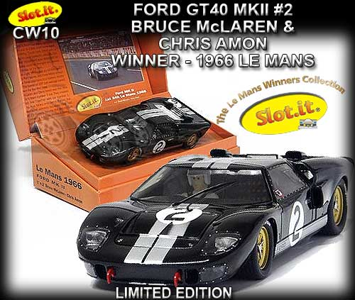 SLOT.IT CW10 - Ford GT40 MKII - #2