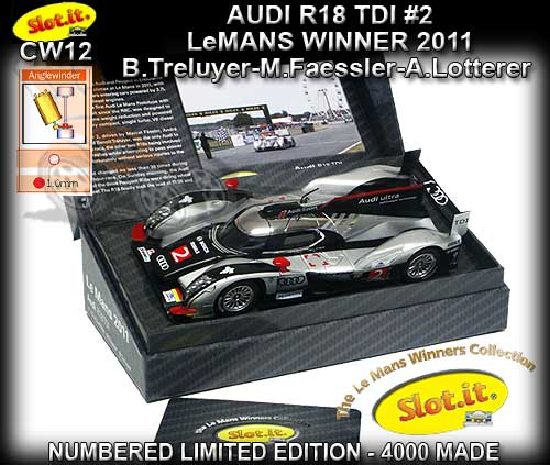SLOT.IT CW12 - Audi R18 TDI - Winner Le Mans 2011 #2 LTD. ED.