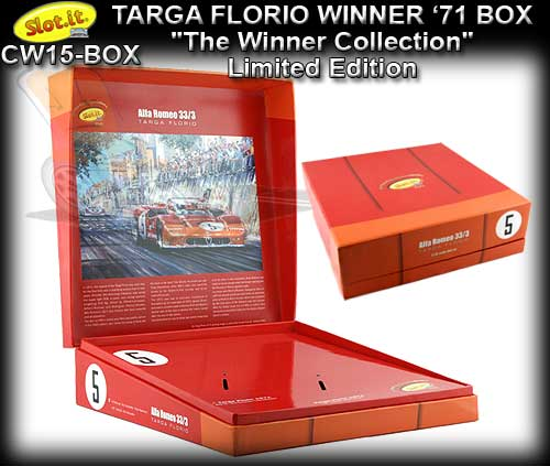 SLOT.IT CW15 - Targo Florio Winner's 1971 box only for CA11F & G