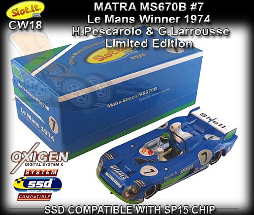 SLOT.IT CW18 - Matra MS670B LeMans Winners Collection