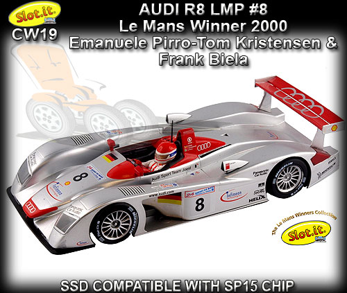 SLOT.IT CW19 - Audi R8 LMP - winner 24 hrs Le Mans 2000 #8