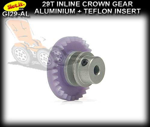 SLOT.IT GEARS GI29-AL - 29T Inline Crown - Aluminium Insert