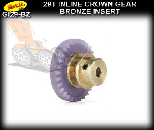 SLOT.IT GEARS GI29-BZ - 29T Inline Crown - Bronze Insert