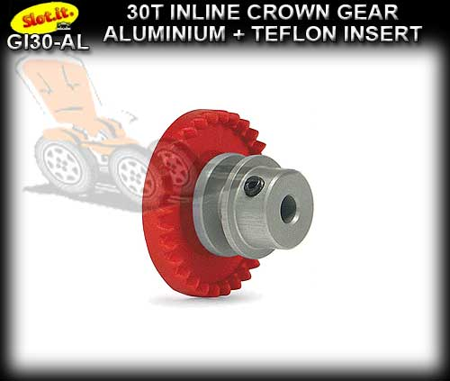SLOT.IT GEARS GI30-AL - 30T Inline Crown - Aluminium Insert