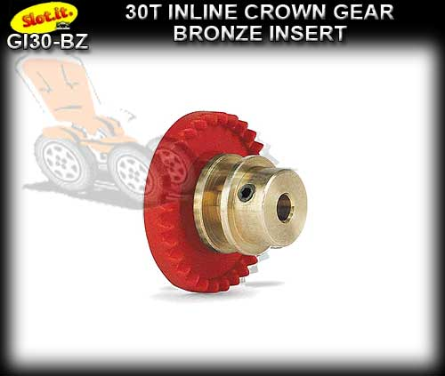 SLOT.IT GEARS GI30-BZ - 30T Inline Crown - Bronze Insert