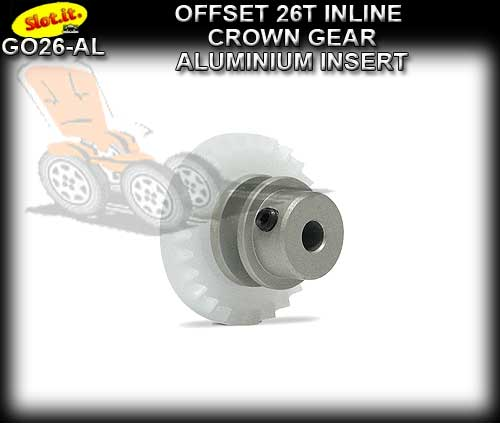 SLOT.IT GEARS GO26-AL - 26T Offset Crown - Aluminium Insert