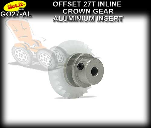 SLOT.IT GEARS GO27-AL - 27T Offset Crown - Aluminium Insert