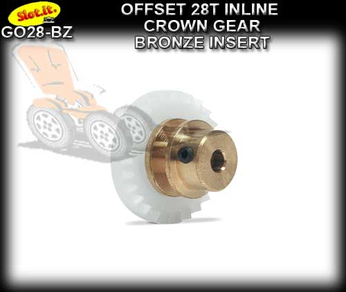 SLOT.IT GEARS GO28-BZ - 28T Offset Crown - Bronze Insert