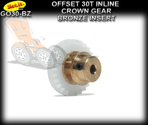 SLOT.IT GEARS GO30-BZ - 30T Offset Crown - Bronze Insert