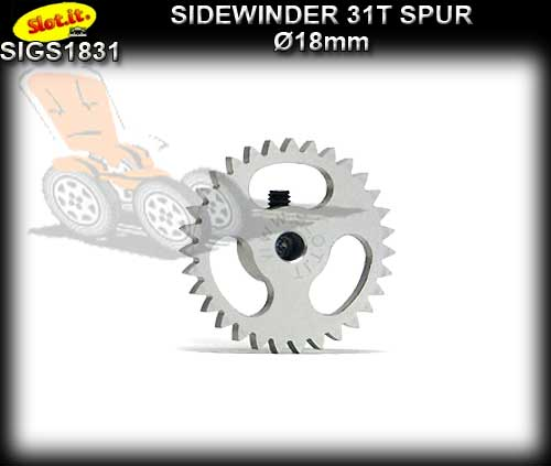 SLOT.IT GEARS GS1831 - 31T Ultralight Ergal Sidewinder Spur 18mm