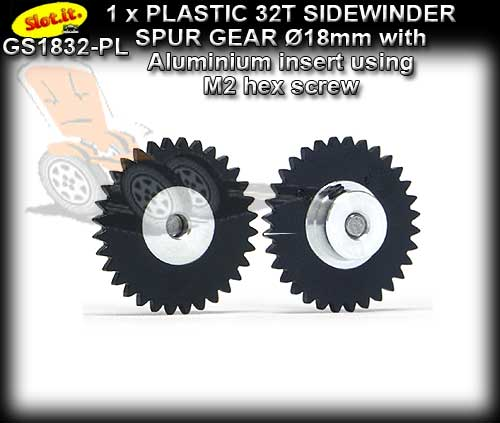 SLOT.IT GEARS GS1832-PL - Plastic 32T Sidewinder spur 18mm