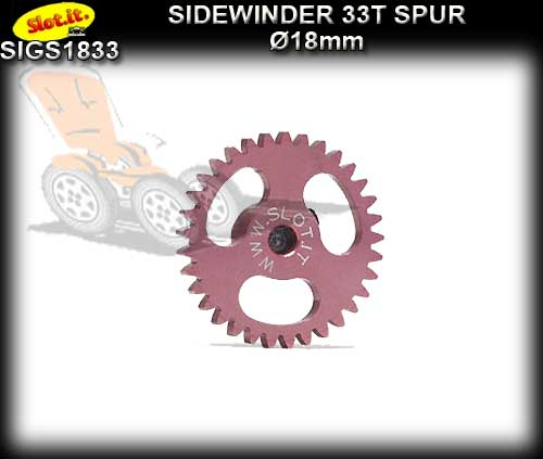 SLOT.IT GEARS GS1833 - 33T Ultralight Ergal Sidewinder Spur 18mm