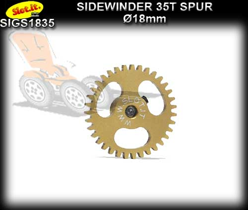 SLOT.IT GEARS GS1835 - 35T Ultraight Ergal Sidewinder Spur 18mm