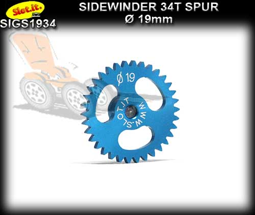 SLOT.IT GEARS GS1934 - 34T Ultralight Ergal Sidewinder Spur 19mm