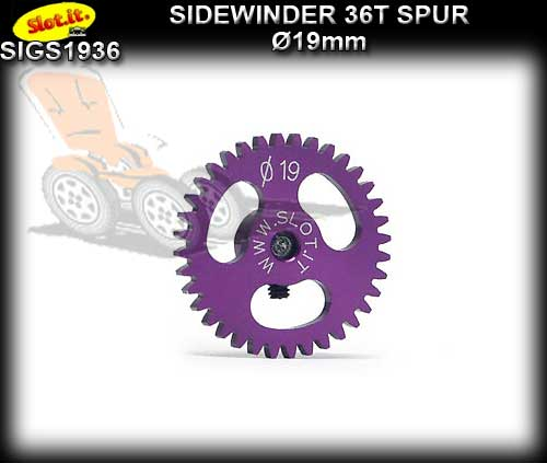 SLOT.IT GEARS GS1936 - 36T Ultralight Ergal Sidewinder Spur 19mm