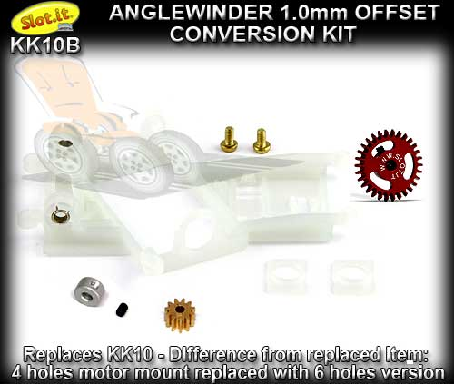 SLOT.IT CONVERSION KIT KK10B - Anglewinder 1.0mm Offset