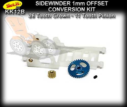 SLOT.IT CONVERSION KIT SIKK12B - Sidewinder 1mm OFFSET