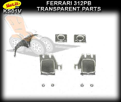 SLOT.IT BODY PARTS KS01V - Ferrari 312PB Transparent Parts
