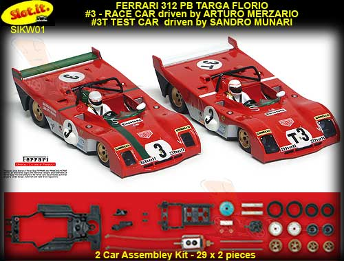 SLOT.IT KW01 - Ferrari 312 PB Twin Kit #3 & #T3 - 1972