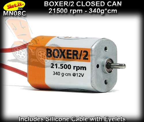 SLOT.IT MOTOR MN08C - Boxer/2 - 21500 rpm - Closed Can