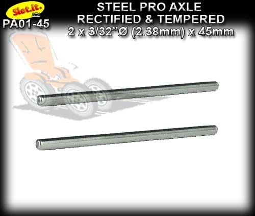 SLOT.IT AXLE PA01-45 - Axle 45mm x 3/32 dia. (2.38mm) Hardened