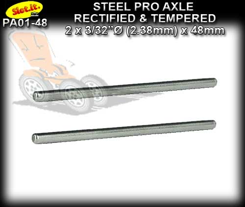 SLOT.IT AXLE PA01-48 - Axle 48mm x 3/32 dia. (2.38mm) Hardened
