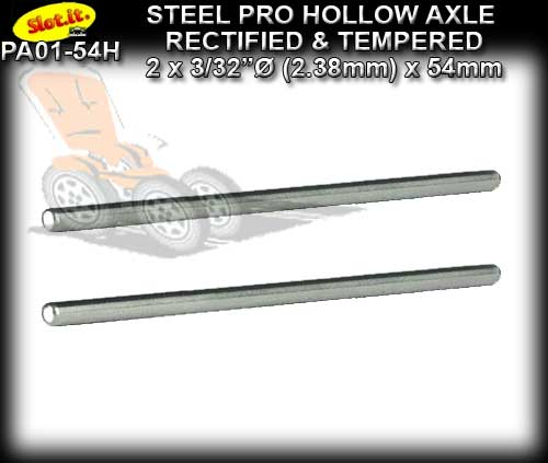SLOT.IT AXLE PA01-54H - Hollow Axle 54mm x 3/32 dia. (2.38mm)