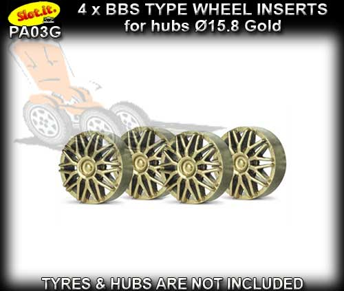 SLOT.IT WHEEL INSERT PA03G - BBS Gold type wheel inserts