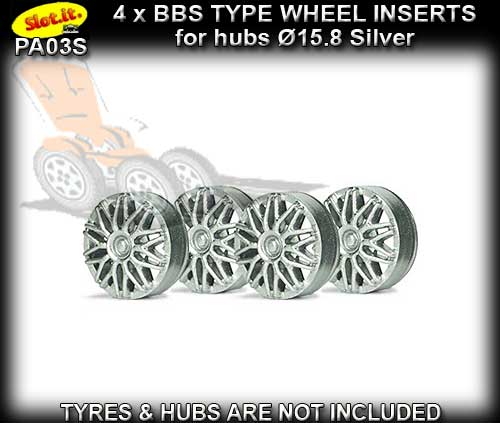 SLOT.IT WHEEL INSERT PA03S - BBS Silver type wheel inserts